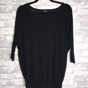 EXPRESS |  Soft Black Oversized Sweater Sz XS